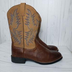 Ariat Barrel Brown Heritage Stockman Boots Cowboy